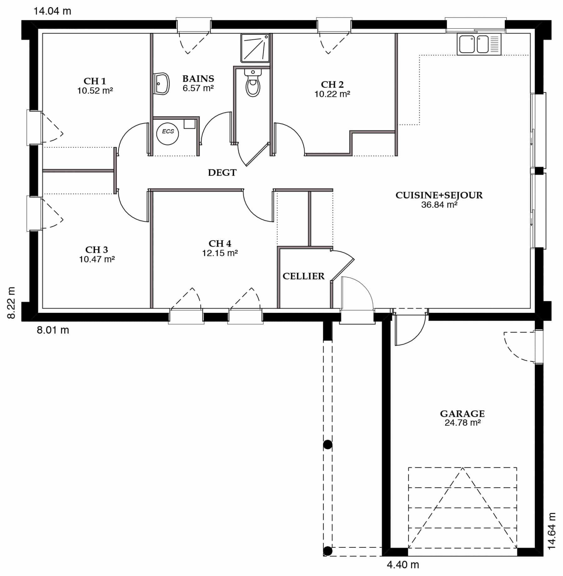 Plan Maison Ambrine