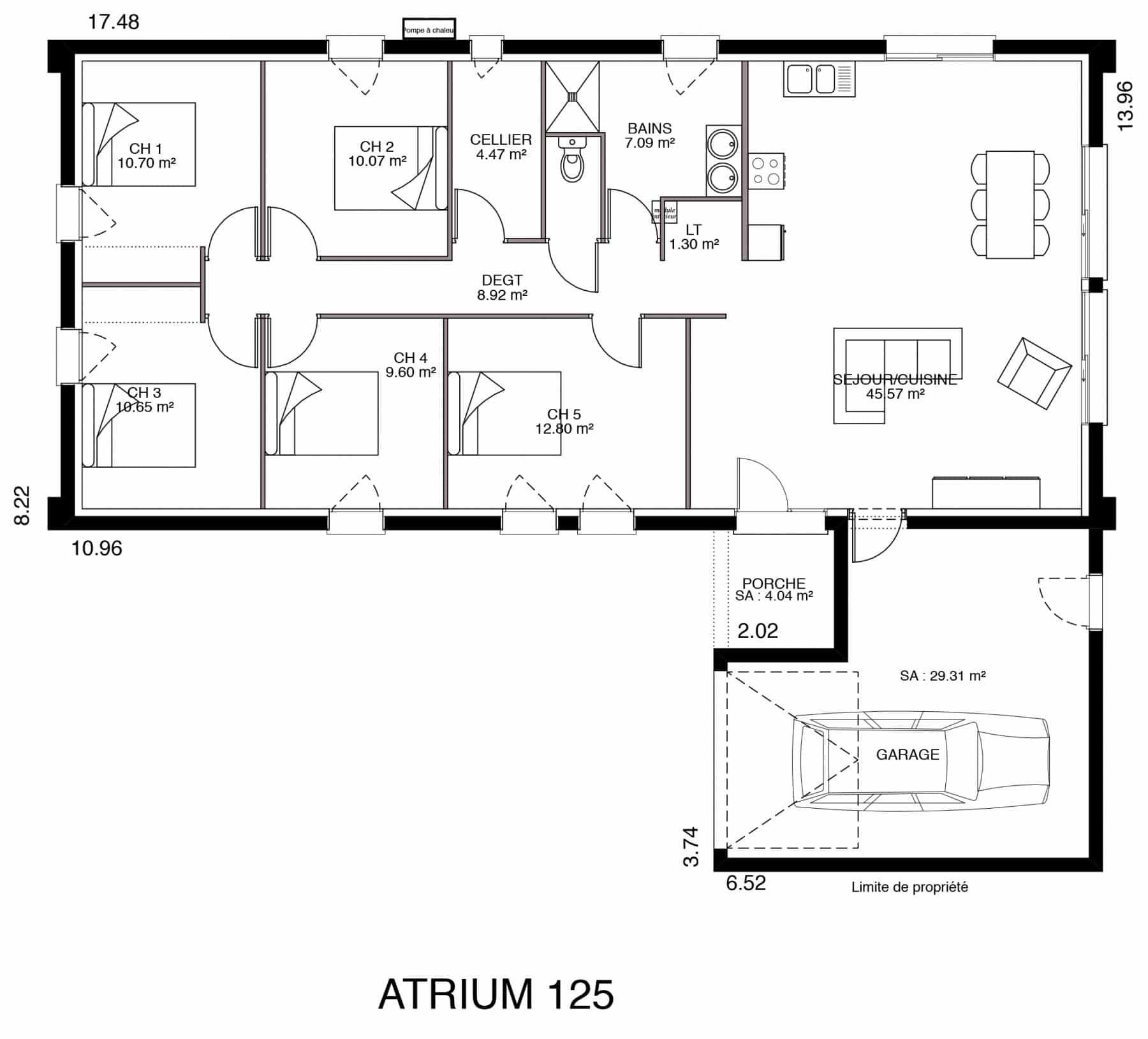 Plan Maison 130 M Avec 4 Chambres Ooreka