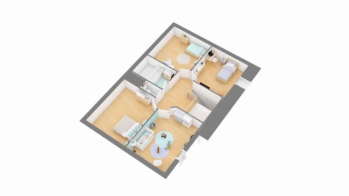 Tradinord_constructeur_maison 59 et 62 _Libreviere-g1-axo_etage
