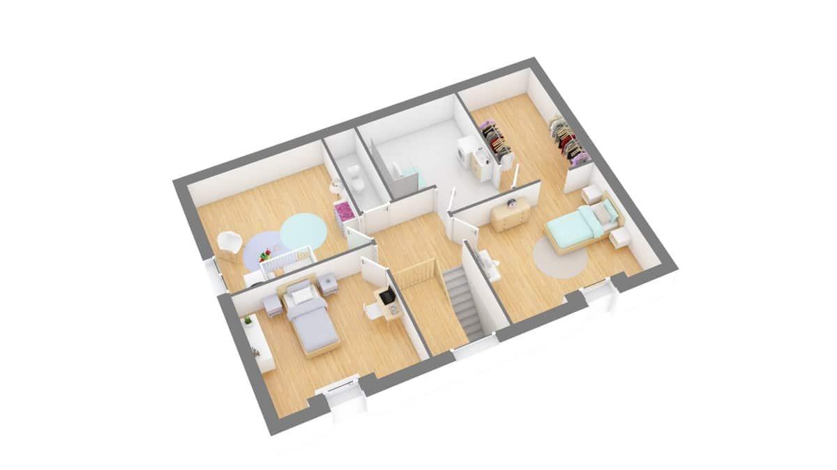 Tradinord_constructeur_maison 59 et 62 _beaumonte-g1-axo_etage