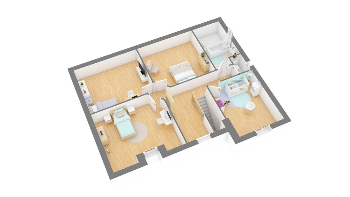 Tradinord_constructeur_maison 59 et 62 _houdaine-g1-axo_etage