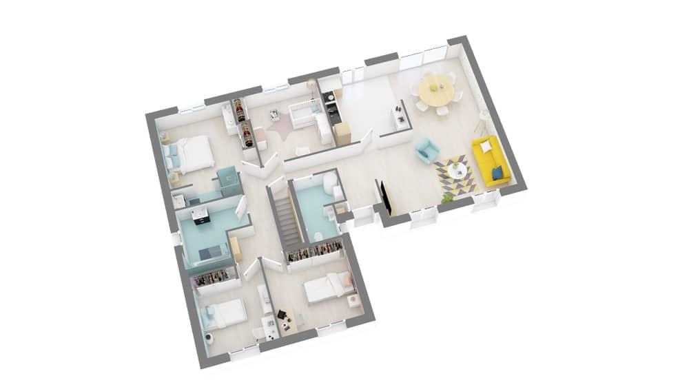 constructeur maison Tradinord 59 et 62_Sommainge-g1-axo_rdc