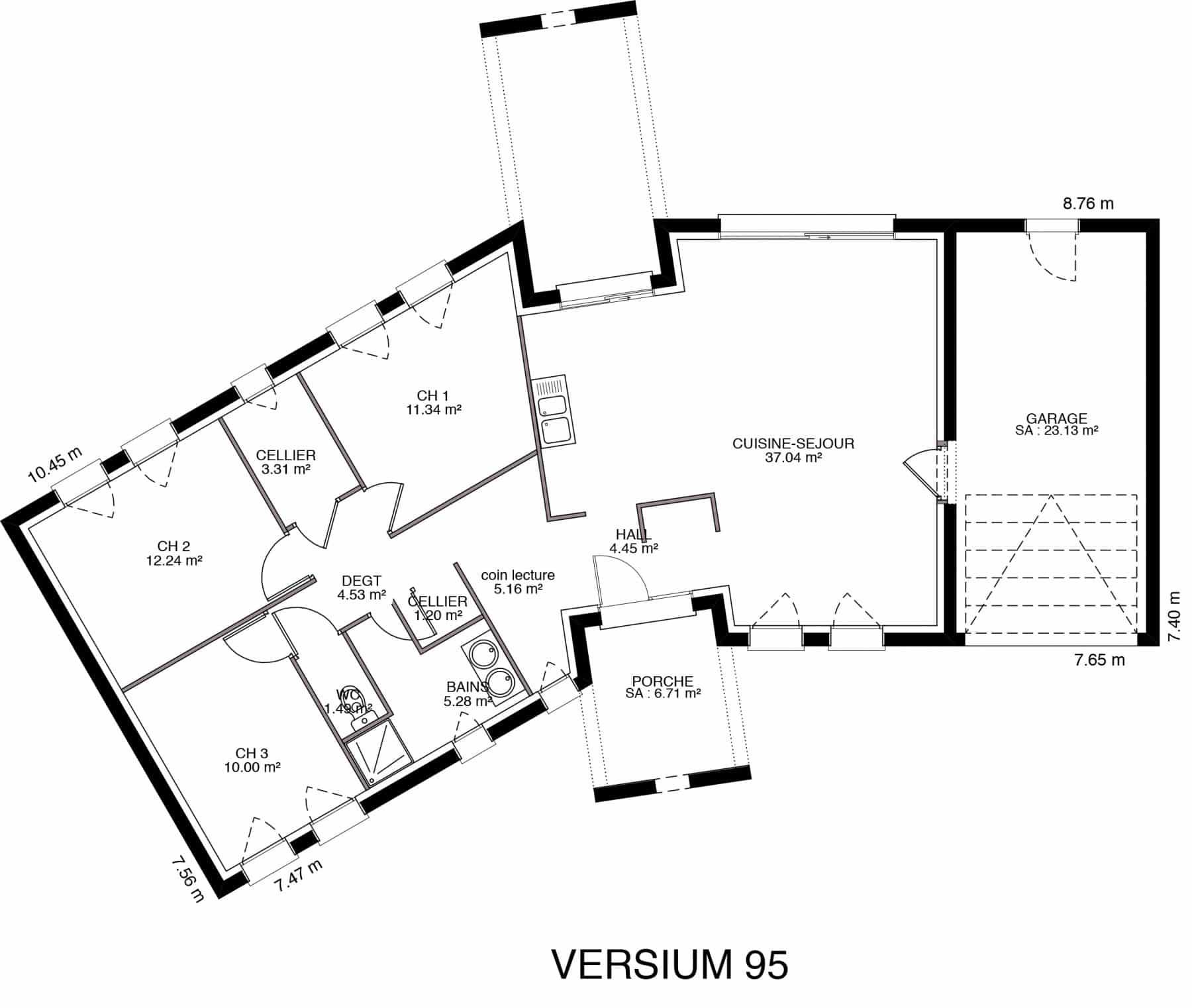 Plan Maison 4 Chambres 130m2 Plan Maison 5